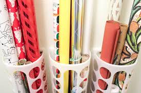 gift wrap storage ideas diy vertical wrapping paper storage idea ikea hack