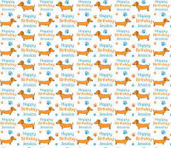 dachshund wrapping paper personalised birthday gift wrap sausage dog dachshund wrapping