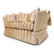 Knole Settee For Sale David Gundry Broadway Knole Sofa In Gold Chenile Stripe Www