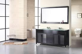 minimalist vanity minimalist large wall mirror above black vanity inside wide