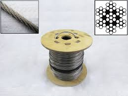 M M Landscaping by 100 Metre Reel 0 5mm 7 X 7 Stainless Steel Wire Cable