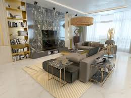 living room living room marble luxury living room with marble details and golden lighting
