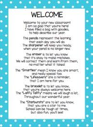 welcome back poem for back to school goodie bag by mrs o knows tpt
