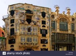 modernist architecture modernist buildings in palma de mallorca stock photo royalty free