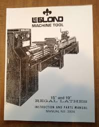 leblond regal lathe instruction u0026 parts manual u2022 25 00 picclick