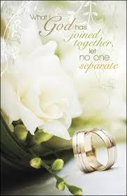 Wedding Bulletins One In Faith 1 John 4 12 The Message Bulletins 100 Wedding