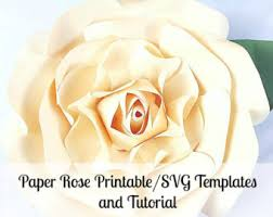 printable large flowers large paper rose template giant paper flower printable