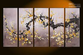 Home Interior Wall Hangings Wall Decoration Wall Art Yellow Flowers Lovely Home Decoration