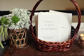 basket for wedding programs wedding ceremony programs in basket ceremony programs wedding