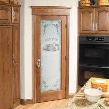 Etched Glass Designs For Kitchen Cabinets Frosted Pantry Door Etched Glass Kitchen Glass Pantry Doors