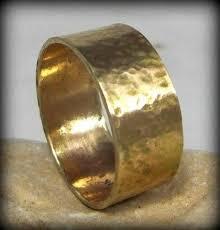 solid gold band 18 karat yellow gold wedding band men s rustic wedding band