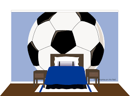 Football Wall Murals by Mega Soccer Ball Wall Mural