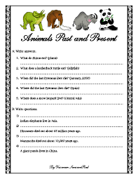 past and present grammar worksheet