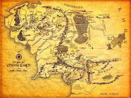 map of the lord of the rings map of middle earth lord of the rings wall stickers print