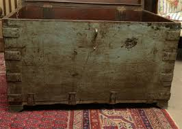 painted indian trunk coffee table for sale at 1stdibs