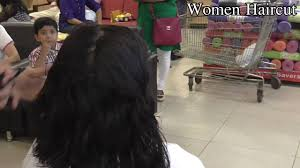 haircut in mall part 1 long to short youtube