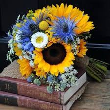 Sunflower Wedding Bouquet Sunflower And Blue Wedding Bouquets Best Sunflower Wedding