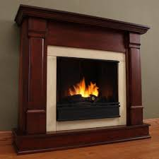 interior gel fuel fireplace and faux wood burning stove also