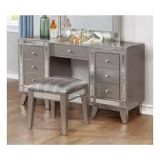 Linon Home Decor Vanity Set With Butterfly Bench Black Bedroom And Makeup Vanities Houzz