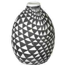 White Decorative Vase Tall Ceramic Yangon Distress Grey Vase With Diamond Pattern 35 Cm