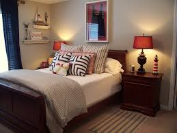 chic sleigh bed frame in bedroom beach style with beach theme
