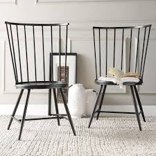 Black Metal Bistro Chairs Dining Room Traditional Dining Chairs Black Leather Dining Room