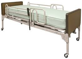 patriot full electric hospital bed mattress rails by lumex
