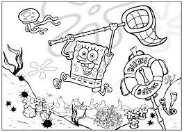black and white spongebob coloring page for you print color 433899
