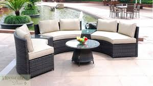 popular outdoor wicker sofas with seat curved outdoor patio