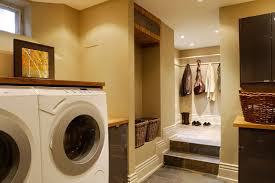 interior design fresh and clean with proper arrangement laundry