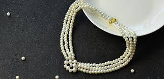 white pearl beaded necklace images Pearl jewelry design how to make a handmade three strand white jpg
