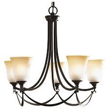 Shop Allen Roth Winnsboro In Light OilRubbed Bronze - Lowes dining room lights