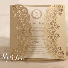 laser cut personalised handmade gatefold wedding invitation