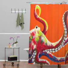 curtains orange octopus shower curtains kohls for bathroom