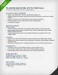 Resume Qualifications Sample by Food Service Waitress U0026 Waiter Resume Samples U0026 Tips