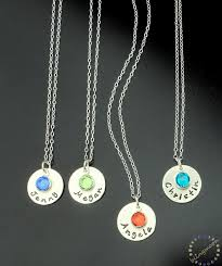 sterling silver personalized jewelry sterling silver necklace birthstone charm personalized jewelry