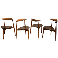 Set Of Four Dining Chairs Set Of Four Stacking The Dining Chairs Model Fh 4103 By
