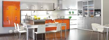 Orange Kitchens Terrific Grey Kitchens Cabinets System And Grey Square Breakfast