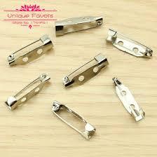 corsage pins 120pcs silver tone alloy metal safety pins brooch back bar pins