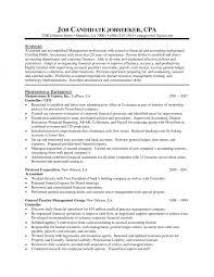 simple resume exle cpa resume sle 2016 accounting resum