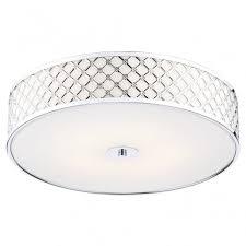 dar civ5250 civic 2 light flush ceiling light polished chrome