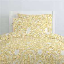 Vintage Duvet Cover White And Yellow Vintage Damask Duvet Cover Carousel Designs