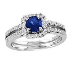 blue promise rings images Marquise cut blue sapphire and 1 2 ct t w diamond three stone jpg