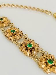 ladies bracelet with images Ladies 18kt gold hand made filagree bracelet with natural jpg