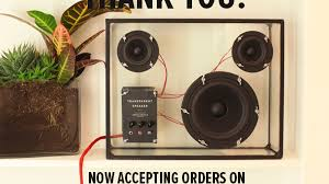 transparent speaker by people people u2014 kickstarter