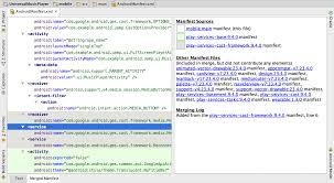 merge multiple manifest files android studio