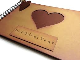 1 year anniversary gift for him year marriage gift for husband one year photo album