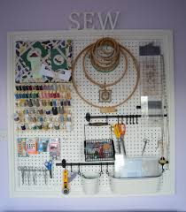 ideas effective pegboard craft and sewing room organization