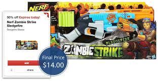 target black friday nerf nerf zombie strike sledgefire blaster only 14 00 at target u0026 8211