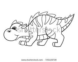 cute cartoon dragon page coloring book stock vector 725128729